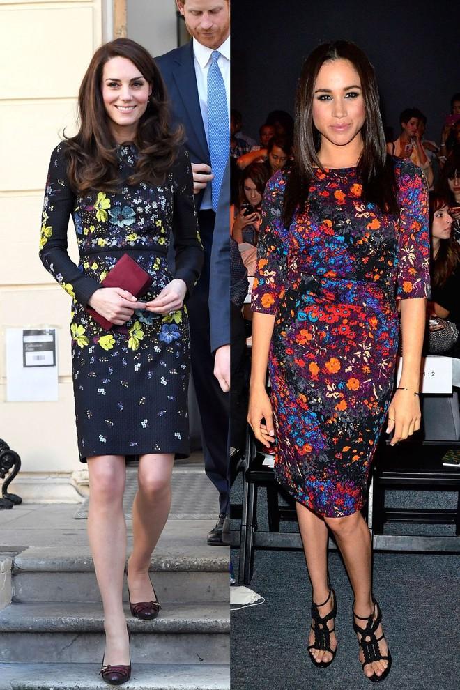 Có ai như chị em dâu nhà Hoàng gia Anh, Kate Middleton và Meghan Markle có tới 11 lần đụng váy - Ảnh 5.