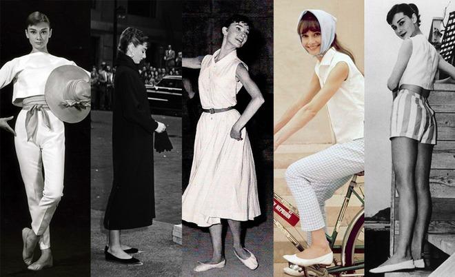 Đến Audrey Hepburn - biểu tượng thời trang bất hủ mọi thời đại, cũng trung thành với giày bệt xinh xắn - Ảnh 1.