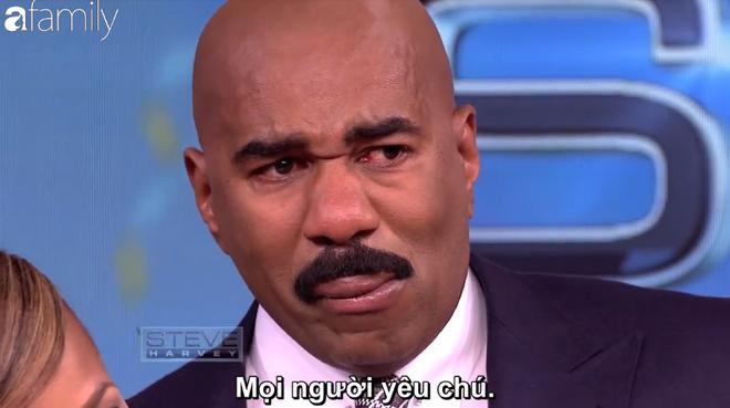 Little Big Shots tập đặc biệt: MC Steve Harvey òa khóc nức nở khi nhớ về tuổi thơ  - Ảnh 10.