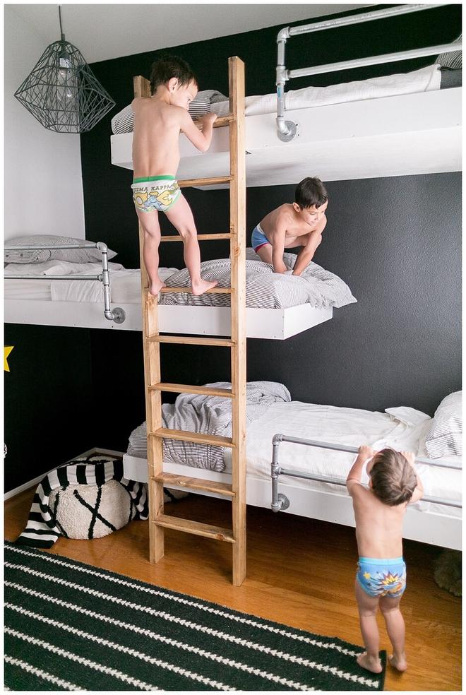 11 mẫu giường tầng đẹp, gọn cực đáng tham khảo cho những gia đình nhà chật mà đông con - Ảnh 11.