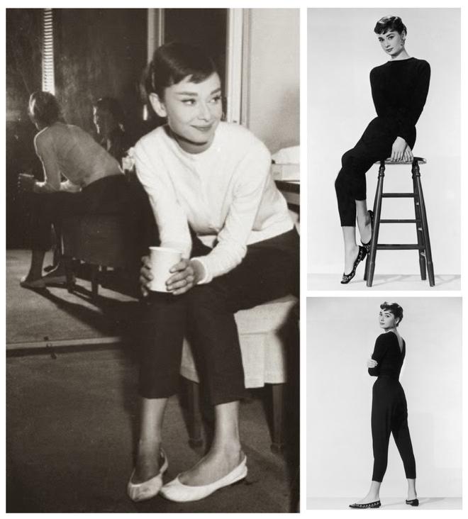 Đến Audrey Hepburn - biểu tượng thời trang bất hủ mọi thời đại, cũng trung thành với giày bệt xinh xắn - Ảnh 8.