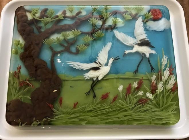 Ngưỡng mộ phù thủy vẽ tranh 3D trên thạch rau câu, đẹp ngây ngất đến mức chẳng ai nỡ ăn - Ảnh 33.