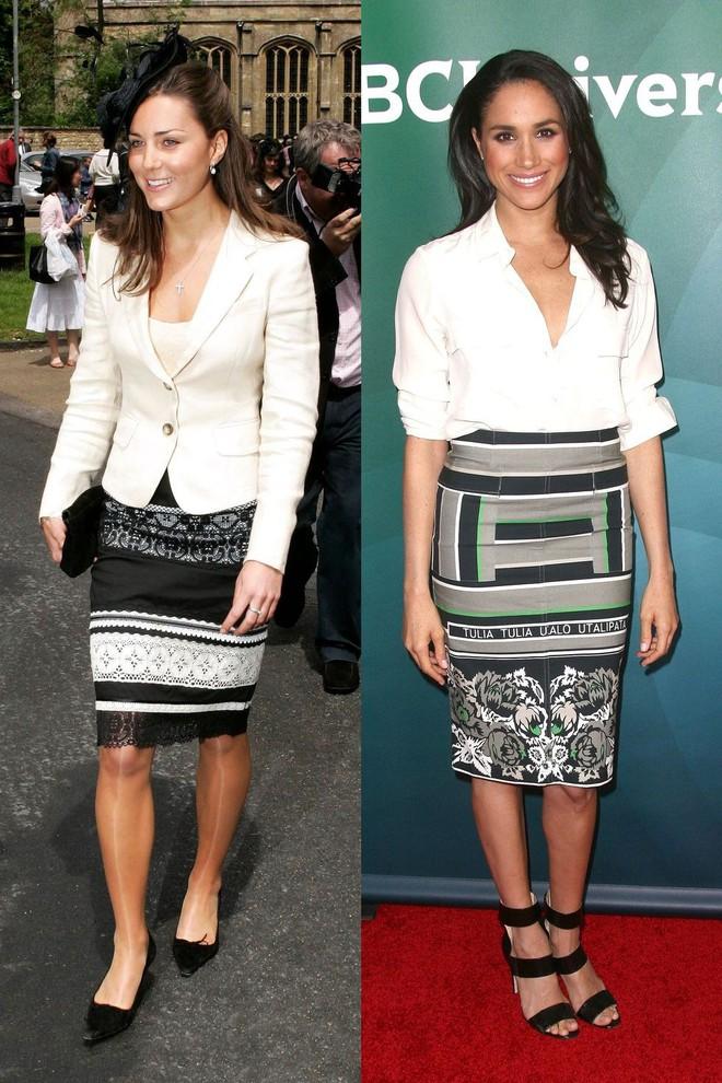 Có ai như chị em dâu nhà Hoàng gia Anh, Kate Middleton và Meghan Markle có tới 11 lần đụng váy - Ảnh 8.