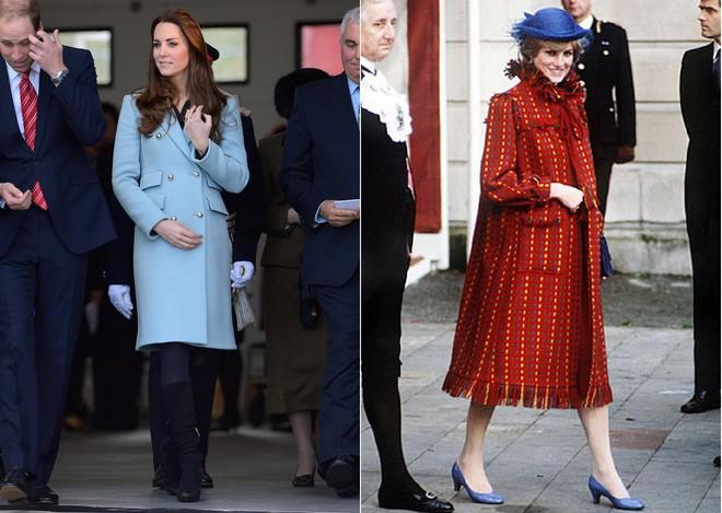 Cùng mang thai, nhưng công nương Kate và công nương Diana lại có cánh che bụng bầu hoàn toàn khác nhau - Ảnh 9.