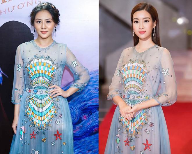 Đụng hàng váy với Hoa hậu Đỗ Mỹ Linh, nhưng Văn Mai Hương lại già hơn hẳn vì chọn nhầm phụ kiện kiểu... quý bà - Ảnh 8.