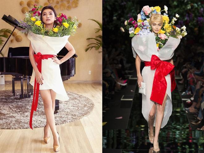 Ngang nhiên mượn thiết kế của Moschino, nhưng bó hoa Tiêu Châu Như Quỳnh lại kém sắc trầm trọng - Ảnh 8.