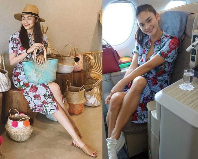 Ngay cả HHHV Thế giới Pia cũng lùi bước trước Tăng Thanh Hà khi cả hai diện chung một mẫu váy của Zara - Ảnh 4.