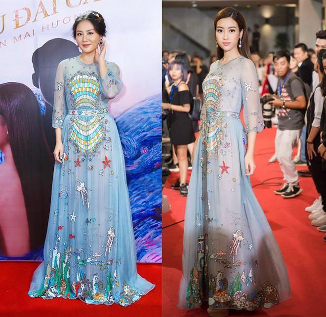 Đụng hàng váy với Hoa hậu Đỗ Mỹ Linh, nhưng Văn Mai Hương lại già hơn hẳn vì chọn nhầm phụ kiện kiểu... quý bà - Ảnh 7.