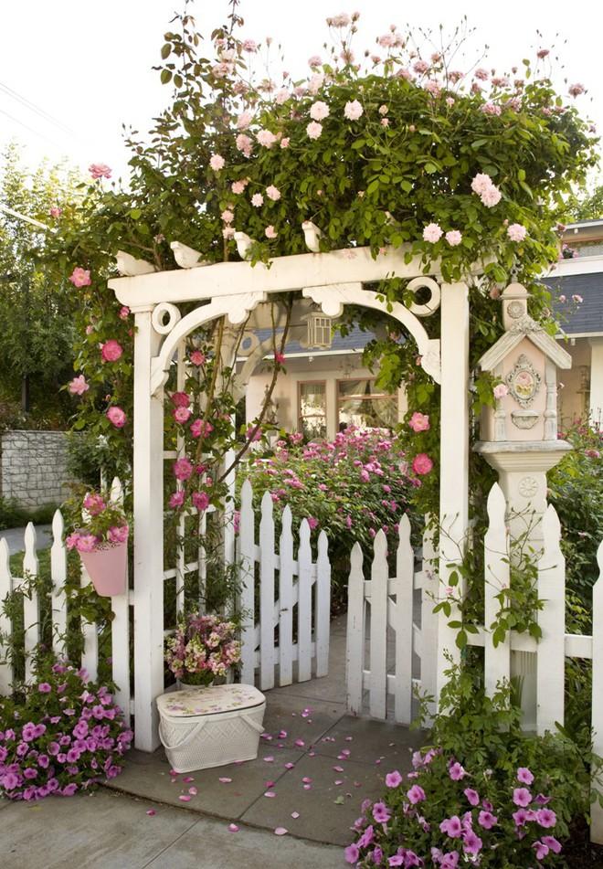 Chiêm ngưỡng vẻ đẹp lộng lẫy của những chiếc cổng nhà tràn ngập hoa - Ảnh 8.