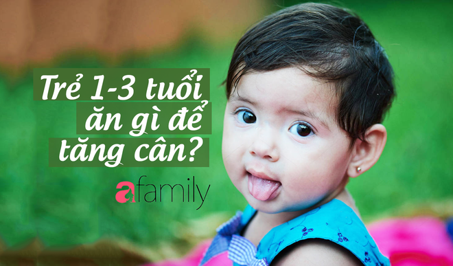 Dinh dưỡng cho trẻ từ 1-3 tuổi