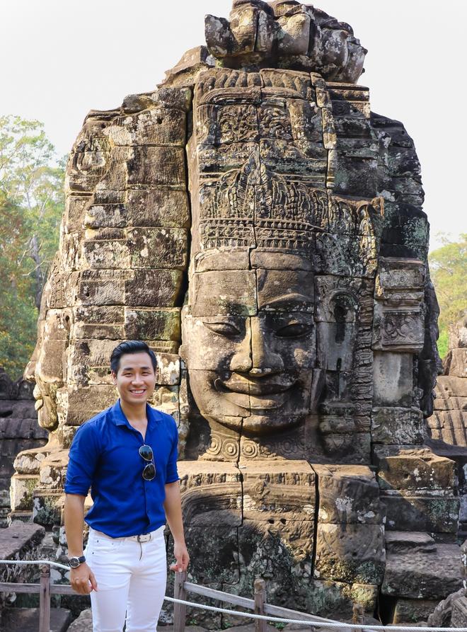Nguyên Khang thích thú du lịch bụi, lê la vỉa hè ở Campuchia - ảnh 2