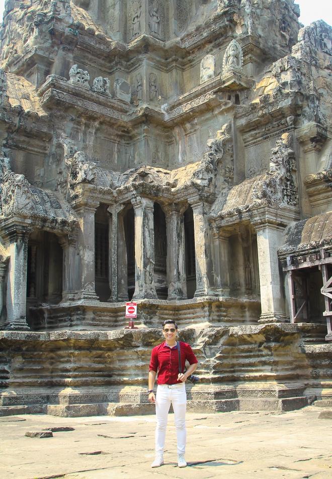 Nguyên Khang thích thú du lịch bụi, lê la vỉa hè ở Campuchia - ảnh 5