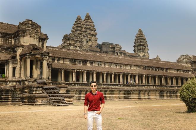 Nguyên Khang thích thú du lịch bụi, lê la vỉa hè ở Campuchia - ảnh 6
