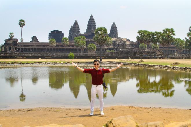 Nguyên Khang thích thú du lịch bụi, lê la vỉa hè ở Campuchia - ảnh 7