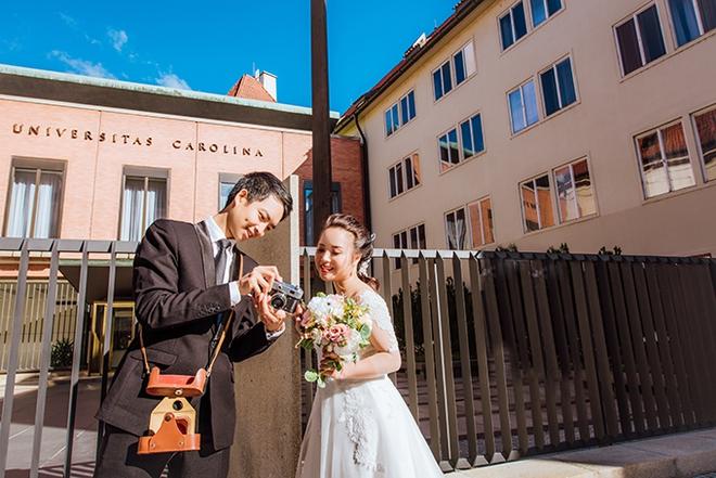 Cặp đôi Việt kiều Séc tỏ tình lãng mạn trên tuyết, chụp ảnh cưới hẹn hò trong… phòng giải phẫu - Ảnh 5.