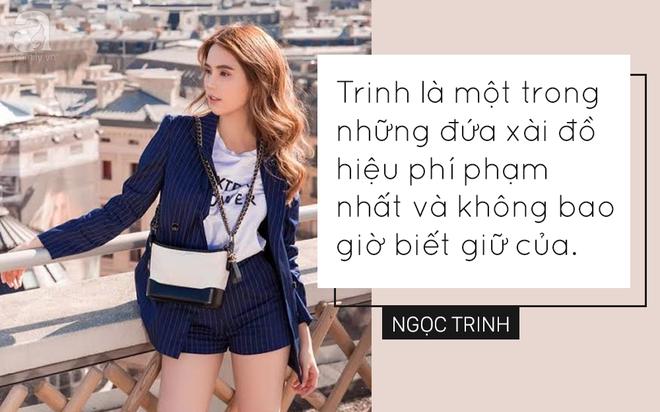 Trong showbiz Việt liệu có ai đủ bản lĩnh phát ngôn về hàng hiệu sốc như Ngọc Trinh - Ảnh 1.