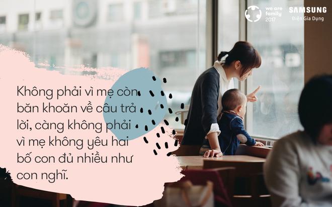 Có bố và có con, mẹ biết rằng mình không bao giờ đơn độc - Ảnh 1.