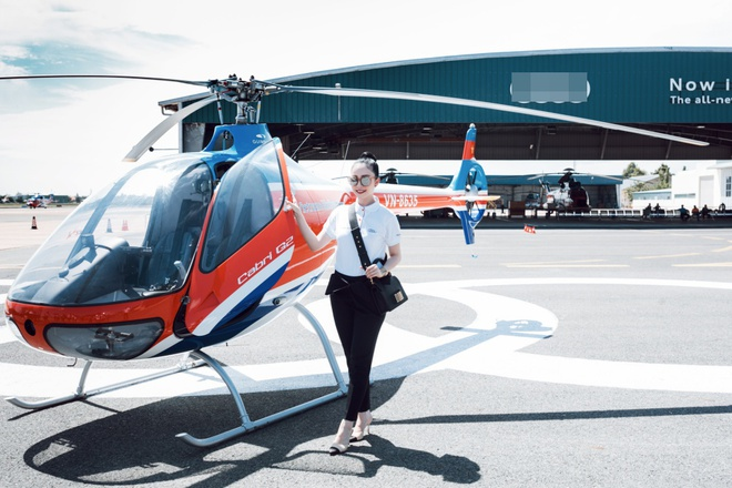 Thanh Hằng, Linh Nga khoe dáng cực ngầu bên trực thăng - ảnh 1