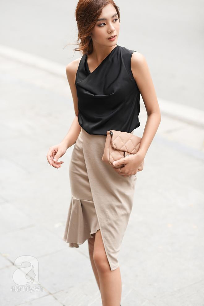 Street style cuối tuần: Quý cô hai miền - người lấp ló chân thon dài, người khoe vai trần cá tính - Ảnh 9.