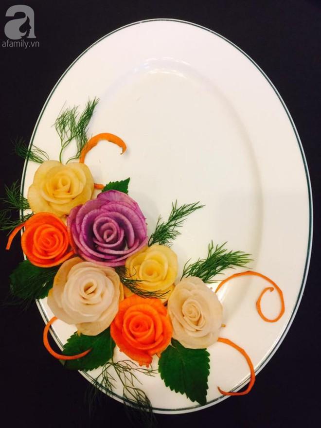 Mách bạn cách trang trí đĩa ăn tuyệt đẹp hình hoa hồng từ củ cải - Ảnh 7.