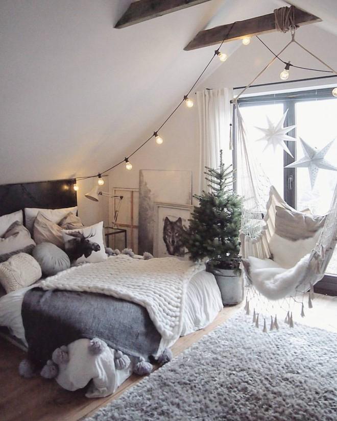 Những mẫu phòng ngủ mùa đông nhìn là thấy ấm - Ảnh 2.