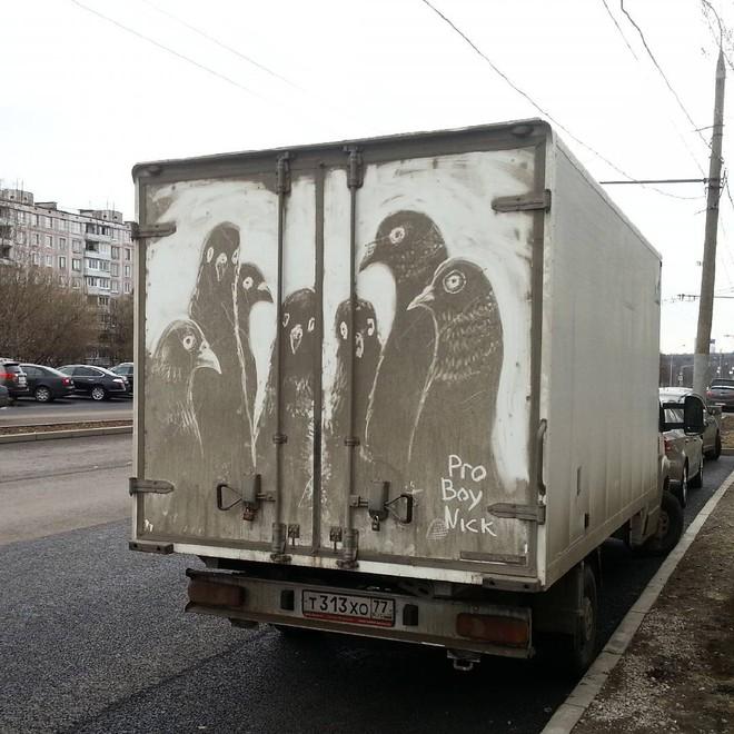 Đừng vội lau bụi bẩn trên ô tô, chúng có thể trở thành tác phẩm nghệ thuật độc đáo như thế này - Ảnh 11.
