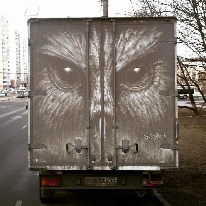 Đừng vội lau bụi bẩn trên ô tô, chúng có thể trở thành tác phẩm nghệ thuật độc đáo như thế này - Ảnh 8.