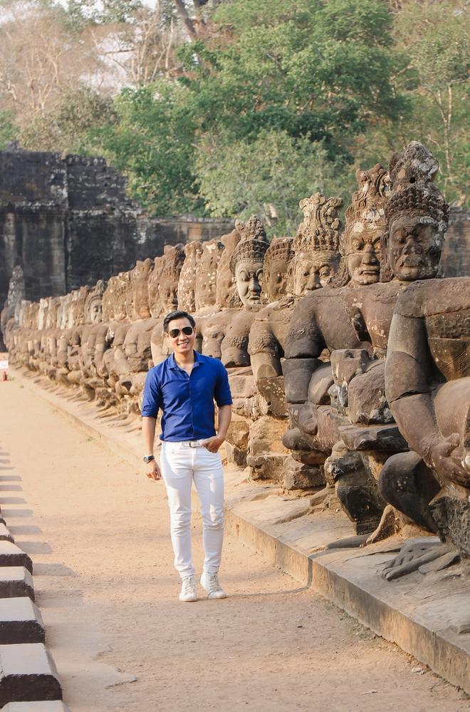 Nguyên Khang thích thú du lịch bụi, lê la vỉa hè ở Campuchia - ảnh 8