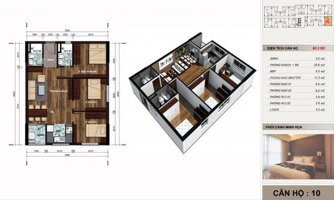 Tư vấn bố trí nội thất căn hộ 67m² với tổng chi phí chưa đến 80 triệu cho chàng trai 23 tuổi độc thân - Ảnh 1.