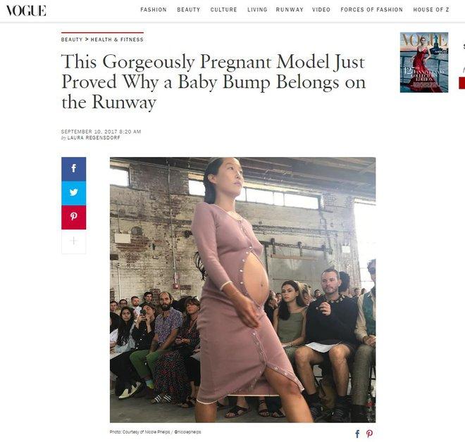 Người mẫu bụng bầu vượt mặt tự tin sải bước tại Tuần lễ thời trang New York 2018 - Ảnh 7.