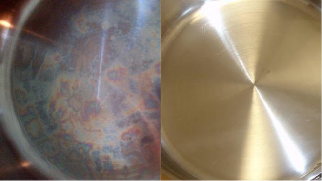Nếu vết ố cầu vồng trên nồi chảo inox khiến bạn khó chịu, hãy thử ngâm chúng với thứ này, 10 phút là bóng loáng - Ảnh 4.