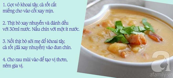 19 món ăn ngon cho bé bị tay chân miệng cấp độ 1 và 2 đủ 4 nhóm dưỡng chất thiết yếu - Ảnh 6.