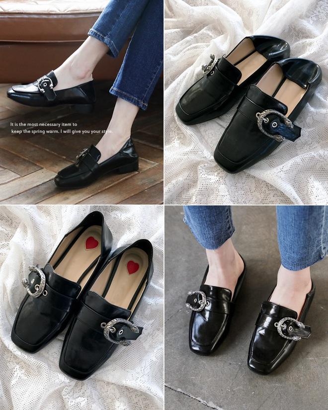Giày loafer mùa thu năm nào cũng hot, nhưng năm nay thiết kế được đổi mới vuông thành sát cạnh - Ảnh 4.