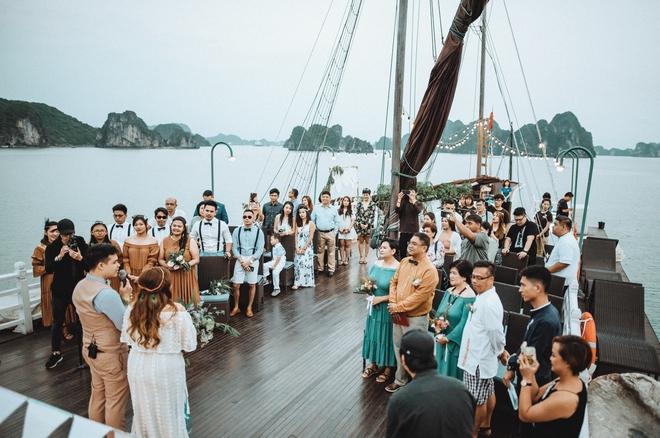 Đám cưới du thuyền đẹp mơ màng giữa sóng nước Hạ Long của cô dâu Philippines không ngại chủ động tìm kiếm tình yêu - Ảnh 10.