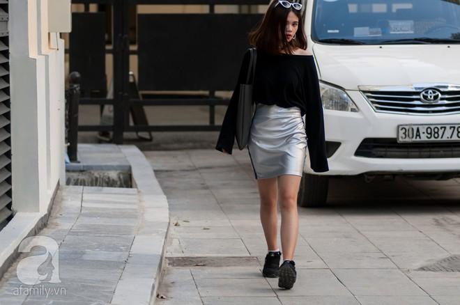Chuyển lạnh một cái, là street style của các quý cô miền Bắc lại ngập tràn các loại áo len và áo khoác - Ảnh 12.