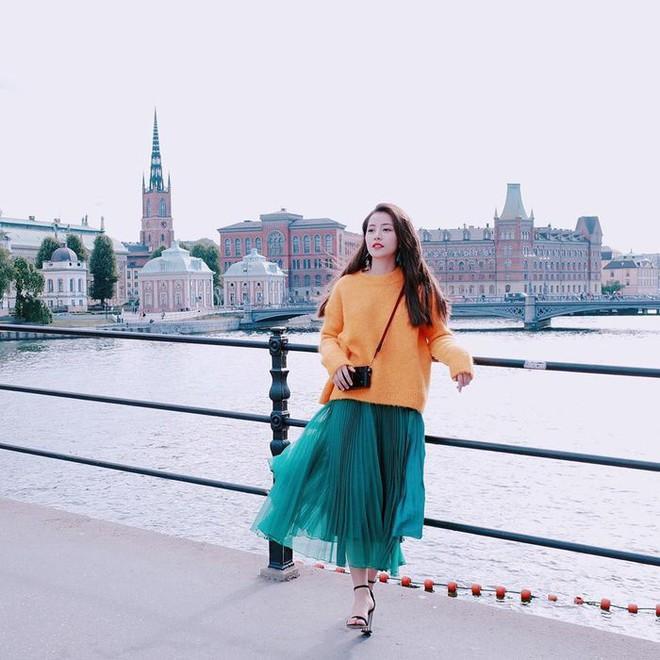 Đông này muốn diện áo len thật thời thượng, hãy học tập từ street style của các người đẹp Vbiz - Ảnh 20.