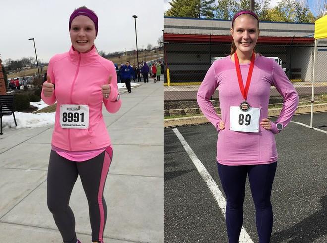 Từ 111,5kg, cô gái này không ngờ mình có thể giảm cân được nhiều đến thế và trở thành vận động viên chạy bộ - Ảnh 6.