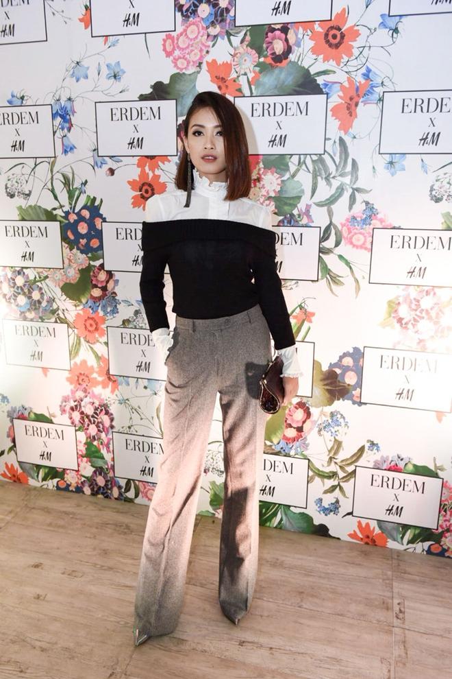 MC Hoàng Oanh khác lạ với mái tóc tém siêu cá tính trải nghiệm mua sắm ERDEM x H&M tại Philippines - Ảnh 1.
