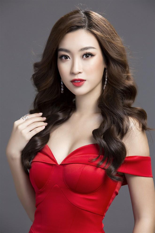 Mỹ Linh diện đầm đỏ hở vai đẹp kiêu sa sau khi dẫn đầu bình chọn online - Ảnh 4.