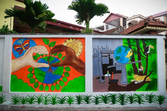 Sau Quảng Nam, Hà Nội đã có đường tranh bích hoạ vô cùng xinh đẹp. - Ảnh 3.