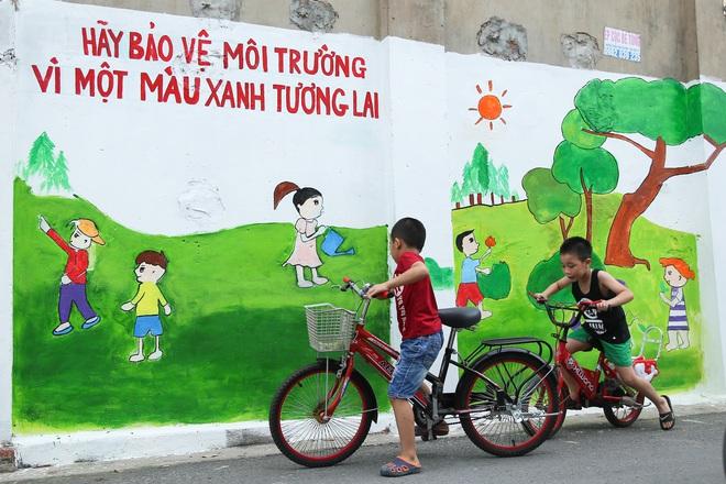 Sau Quảng Nam, Hà Nội đã có đường tranh bích hoạ vô cùng xinh đẹp. - Ảnh 10.