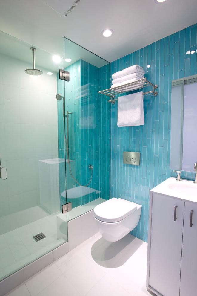 Thổi bay cảm giác oi bức ngày hè với phòng tắm xanh – trắng mát lịm - Ảnh 6.