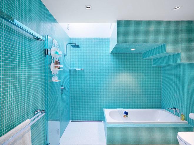 Thổi bay cảm giác oi bức ngày hè với phòng tắm xanh – trắng mát lịm - Ảnh 9.
