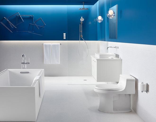 Thổi bay cảm giác oi bức ngày hè với phòng tắm xanh – trắng mát lịm - Ảnh 11.