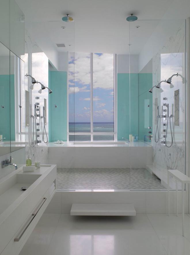 Thổi bay cảm giác oi bức ngày hè với phòng tắm xanh – trắng mát lịm - Ảnh 12.