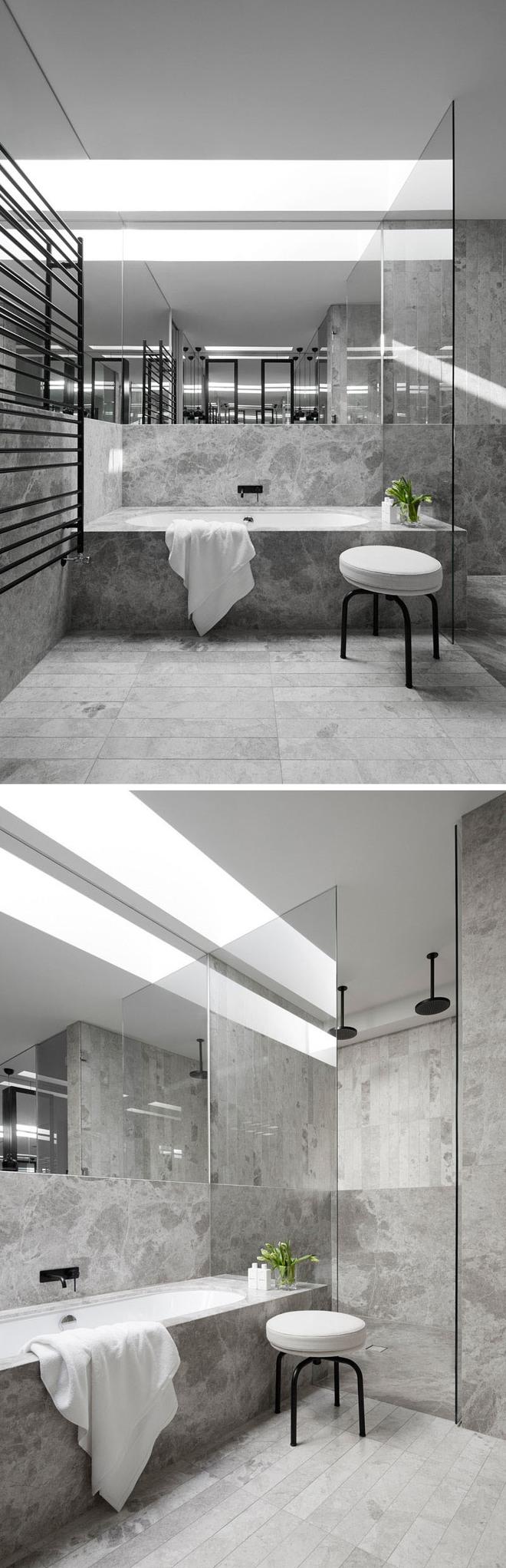 5 cách làm nhà tắm đẹp lên tức khắc nhờ đá cẩm thạch - Ảnh 1.