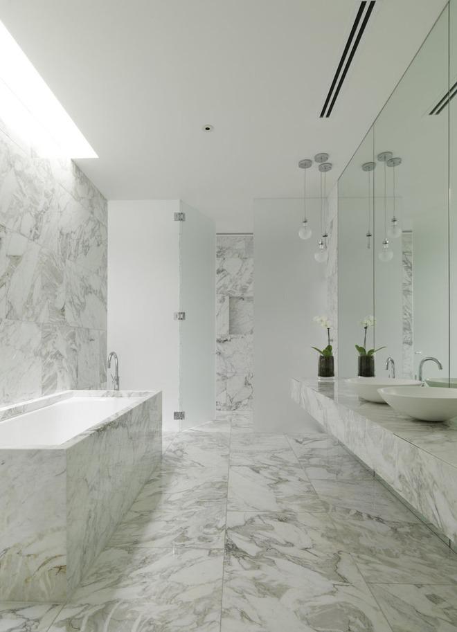 5 cách làm nhà tắm đẹp lên tức khắc nhờ đá cẩm thạch - Ảnh 3.