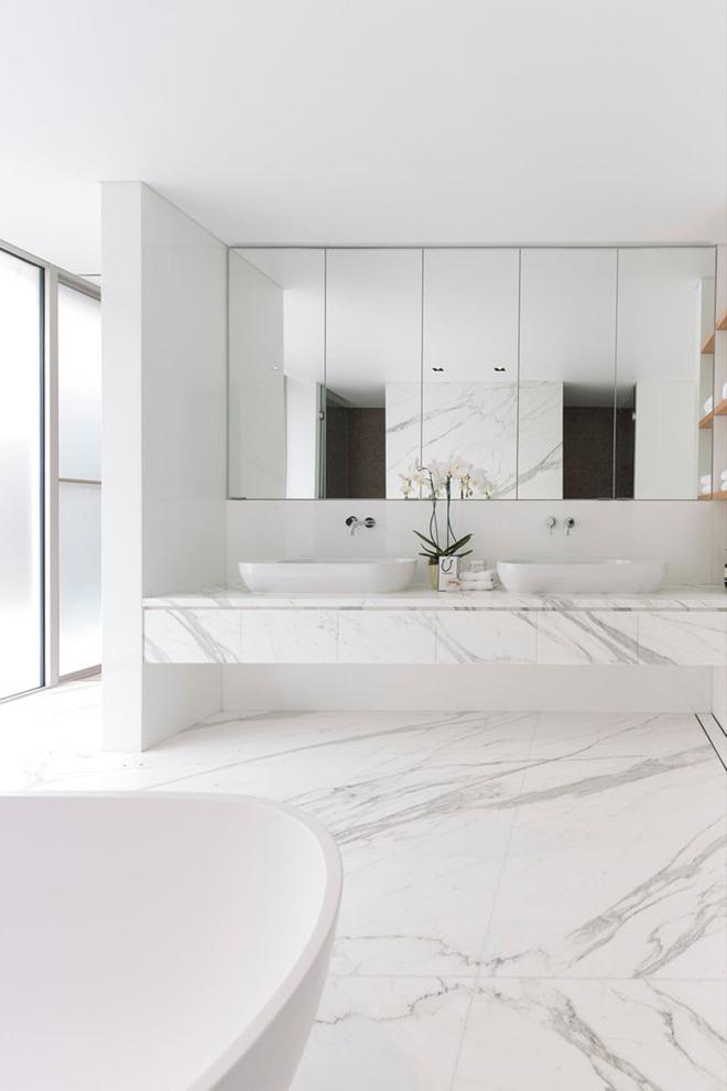 5 cách làm nhà tắm đẹp lên tức khắc nhờ đá cẩm thạch - Ảnh 4.
