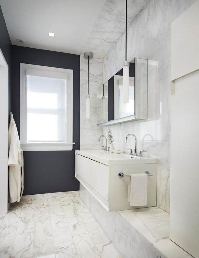 5 cách làm nhà tắm đẹp lên tức khắc nhờ đá cẩm thạch - Ảnh 5.