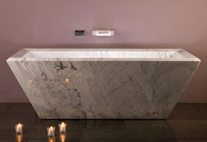 5 cách làm nhà tắm đẹp lên tức khắc nhờ đá cẩm thạch - Ảnh 8.